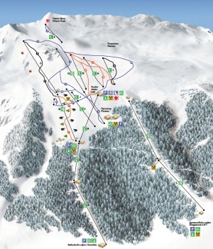 карта на ски и сноуборд зона Витоша
